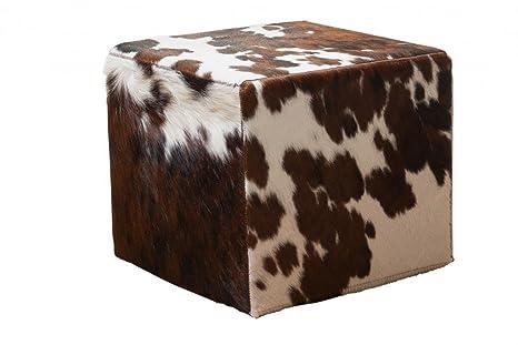 Hide sgabello quadrato cm colore marrone bianco