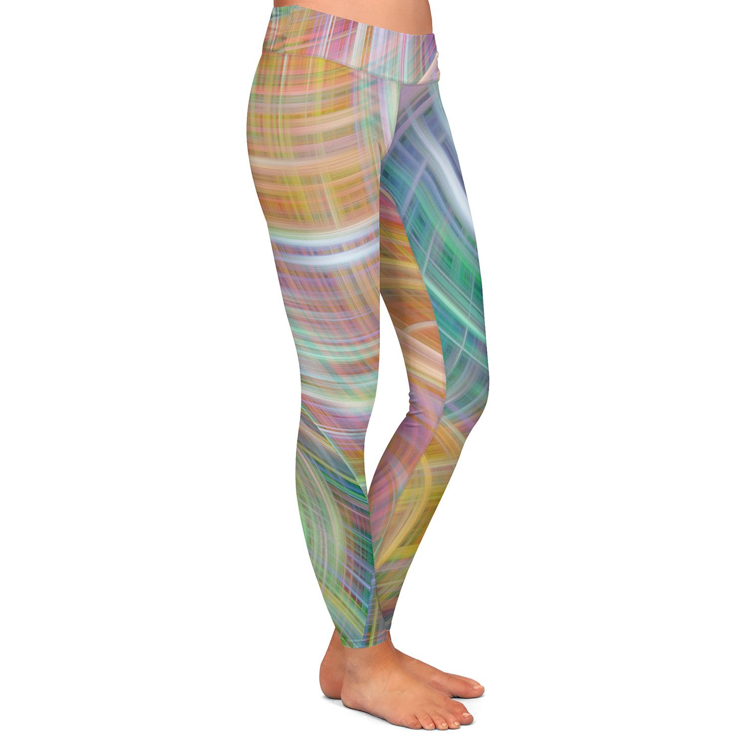 Athletic Yoga Leggings from DiaNoche Designs by Ruth Palmer Lazy Breezy Day I