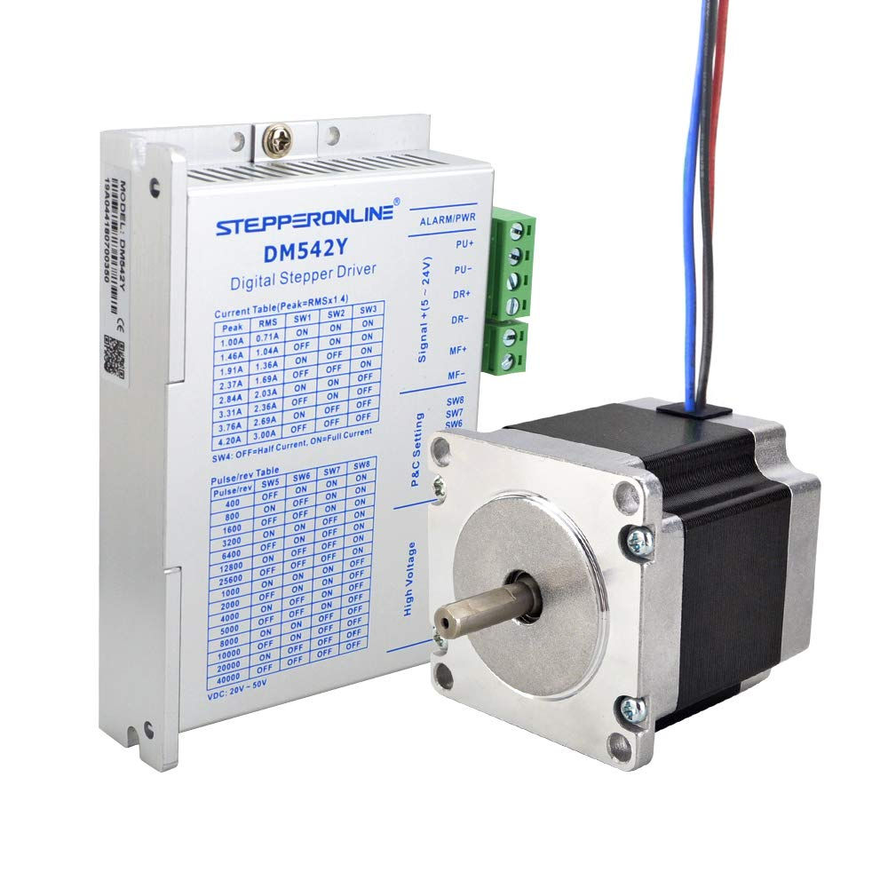 STEPPERONLINE 1 eje Motor paso a paso CNC Kit 1.26Nm 2.8A Nema 23 ...