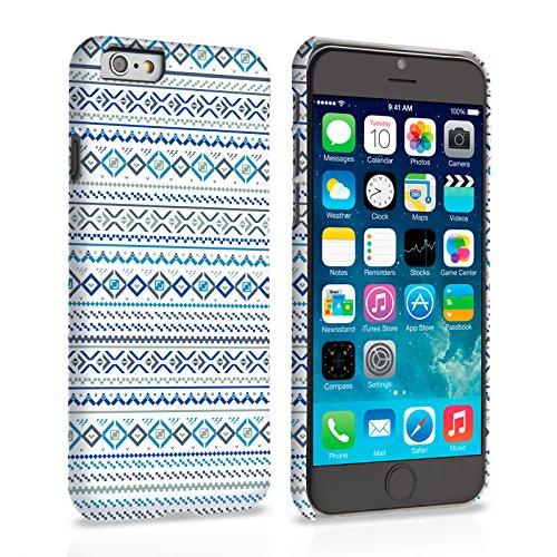 Caseflex iPhone 6 Plus / 6S Plus Hülle Blau / Weiß Fair Isle Aztekisch Hart Schutzhülle (Kompatibel Mit iPhone 6 Plus / 6S Plus - 5.5 Zoll)