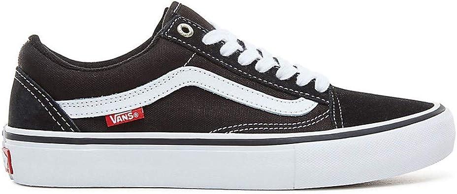 Vans Mens Old Skool Pro Black/White Vn000Zd4Y28 - Size 4