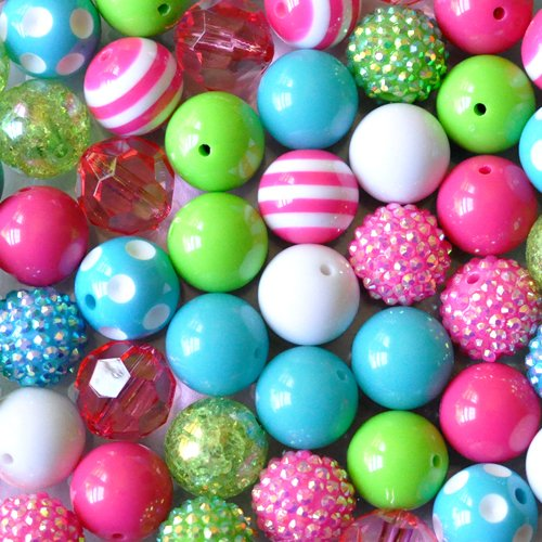 Color Pop 20mm Chunky Beads 50 Piece Bulk Set from Boutique Craft Supplies