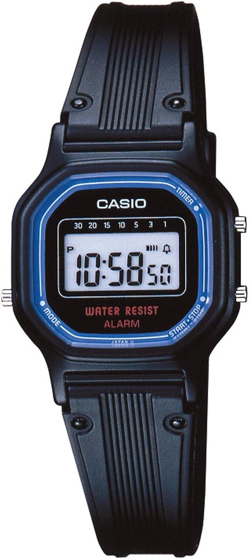 CASIO 19241 LA-11WB-1W - Reloj para señora/niño correa caucho, color negro