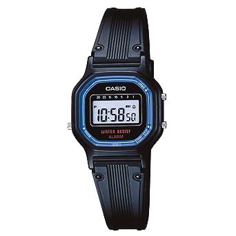 CASIO 19241 LA-11WB-1W - Reloj para señora/niño correa caucho, color negro: Amazon.es: Relojes