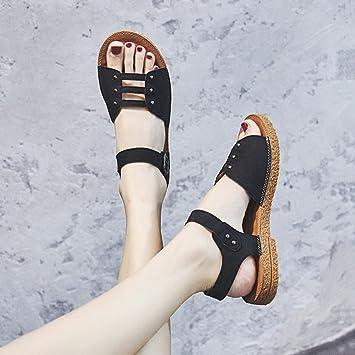 Sandalias Mujer Cómodas Verano Lixiong Zapatillas Estudiante qPxBTEwF