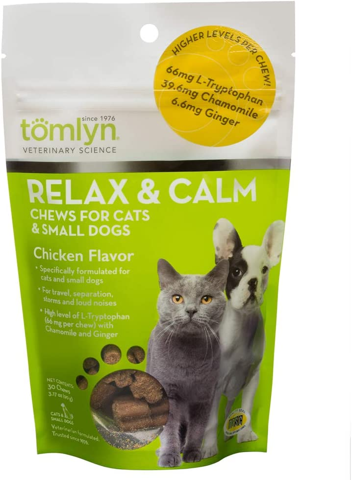 Tomlyn Relax & Calm Chicken Flavor Small Dog & Cat Supplement
