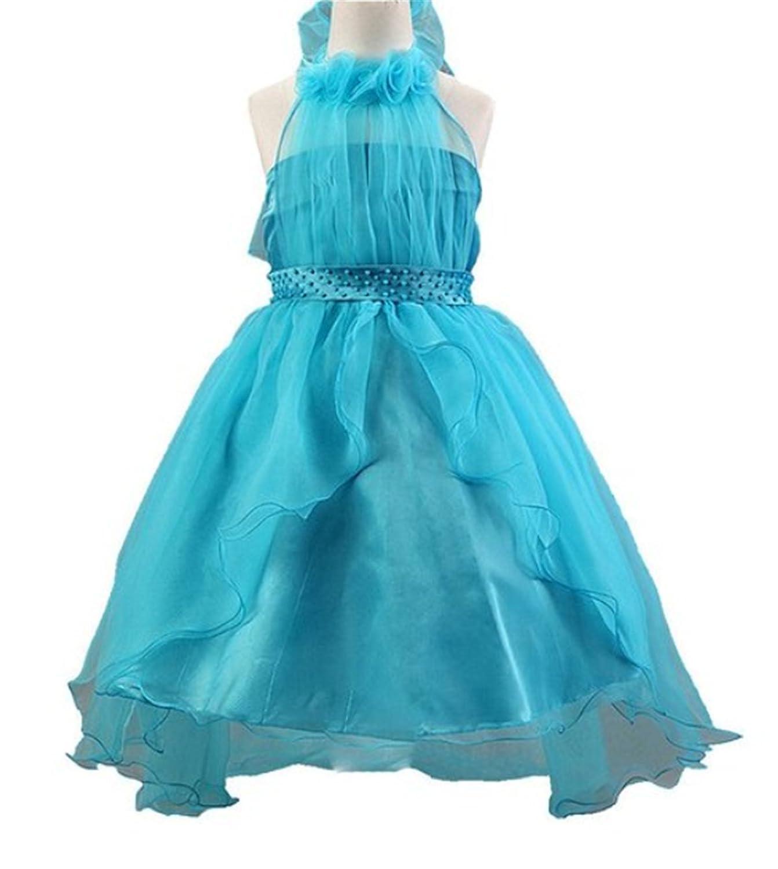 Fanessy Mädchen kinder Prinzessin-Hochzeit Kleid Rosa Blumenmädchen Hochzeit Partei Kommunion kleid kostüm kostüm mädchen