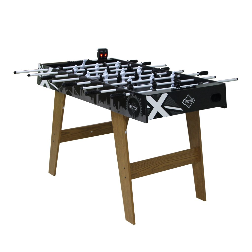 IF 4ft Foosball Table Set with Soccer Table Top for Kids and Game Room