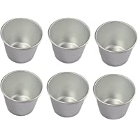 Astra shop Set of 6 Nonstick Individual Tumblers Popovers| Chocolate Molten Pans| Pudding Cups| Raspberry Souffle Pot| Darioles Ramekins Brownies Mold - Size 3 Inches