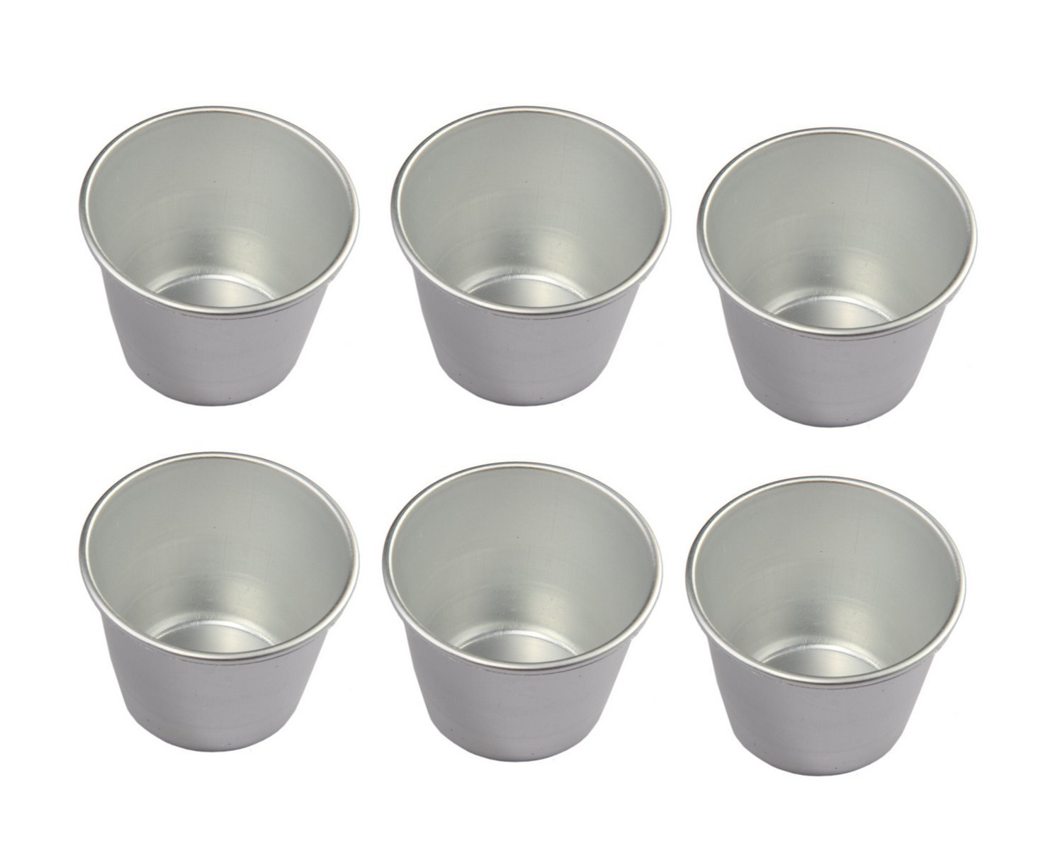 Astra shop Set of 6 Nonstick Individual Tumblers Popovers| Chocolate Molten Pans| Pudding Cups| Raspberry Souffle Pot| Darioles Ramekins Brownies Mold - Size 3 Inches by Astra shop