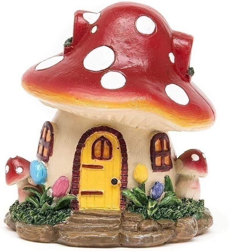 shenyue Big Cute Decoration Gift Garden Ornament Desktop Decor Home Miniatures Accessory Mushroom House Resin Micro Landscape Decor