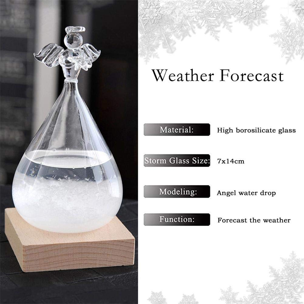 Greatpassion Fashion Colorful Storm Glass Weather Stations Water Drop Weather Predictor Creative Forecast Nordic Style Decorative Weather Glass