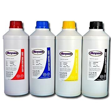 Tinta de Sublimación Pack 4 Botellas 1 Litro para impresoras Epson ...