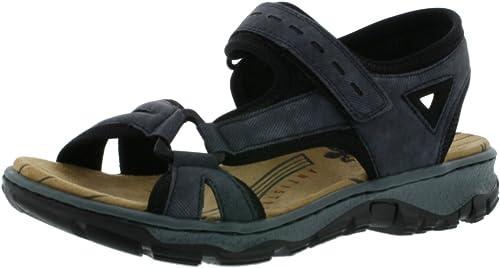 Rieker 68879 Open sandalen voor dames met wighak: Rieker