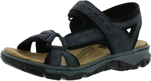 Rieker Damen 68879 Offene Sandalen mit Keilabsatz