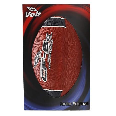 Voit Junior - Balón de fútbol, diseño de Rayas, Color Rojo y Negro ...