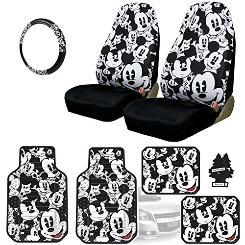 Yupbizauto Disney Mickey Mouse Car Seat Covers Floor Mats