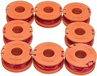 Dewin Trimmer Spool - 10ft Grass Trimmer Edger String Spool Linea di ricambio, misura per Worx WA0010, 8 pezzi