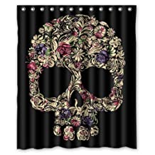 """Special Designed Sugar Skull Shower Curtains 60"""" X 72"""" Home Decor Bath Curtain Background Perfect as Christmas gift-02"""