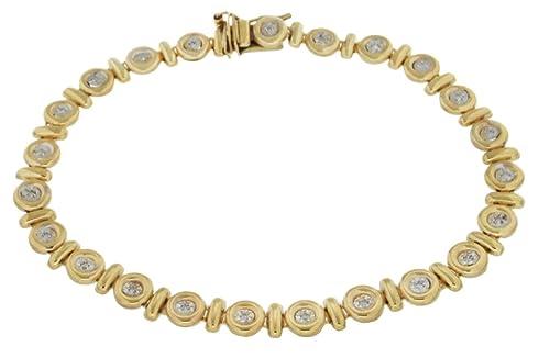 Pulsera de mujer de oro amarillo (9k) con 23 diamanteshttps://amzn.to/2R22s8l