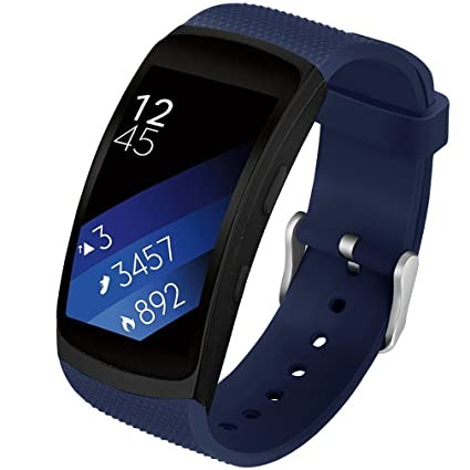Olytop Gear Fit2/Fit 2 Pro Band, Silicone Replacement Wristband Strap for Samsung Gear Fit 2 SM-R360/Gear Fit 2 Pro SM-R365 Smartwatch (Blue)