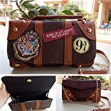 Harry Potter Hogwarts PU School Badge Wallet Hand Satche Purse Bag Gift AU New