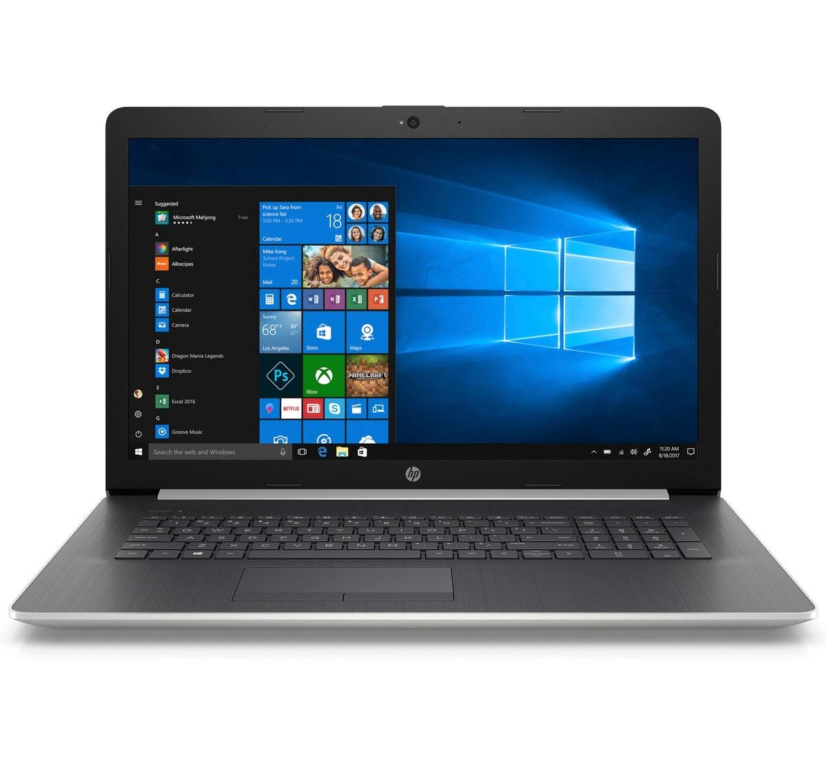 2019 HP 17.3″ HD+ Premium Laptop Computer, 8th Gen Intel Core i3-8130U(Beat I5-7200U) up to 3.40GHz, 8GB DDR4 RAM, 1TB HDD, 802.11ac WiFi, Bluetooth 4.2, USB 3.1, HDMI, DVDRW, Windows 10 Home