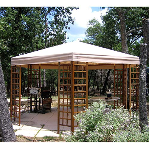 (Replacement Canopy Top for Sam's Club Hexagon Gazebo - Riplock 350 by Jur_Global)