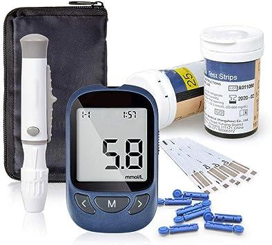 Glucosa en sangre kit de Exactive Vital control de la diabetes kit codefree tiras de prueba de glucosa en sangre x 50 y dispositivo de punción para diabéticos en mg/dL: Amazon.es: Salud