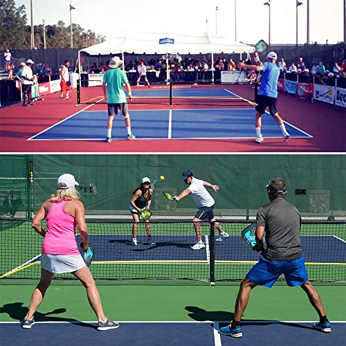 """A11N Portable Pickleball Net System, Designed for all Weather Conditions with Steady Metal Frame and Strong PE Net, Regulation Size Net with Carrying Bag- 22' Wide x 36"""" Tall, Indoor/Outdoor Use by A11N SPORTS (Image #6)"""