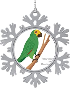 C COABALLA Yellow-Crowned - (- a ochrocephala) - - Brazil,Hanging Ornament Decoration Kit,Hanging for Xmas Holiday Party Decor Peru 1PCS