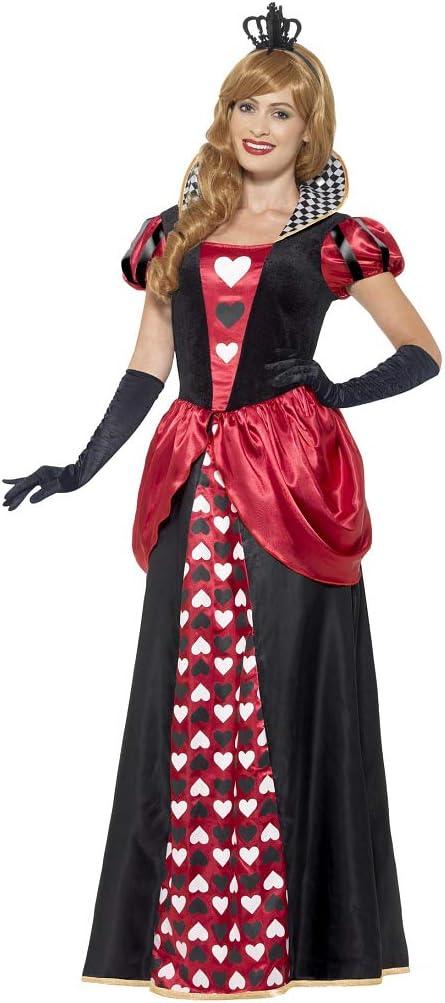 NET TOYS Elegante Disfraz Reina de Corazones - Negro-Rojo XXL (ES ...