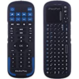 iPazzPort Mini Wireless Keyboard with Touchpad, Universal Infrared Remote Control, 2.4GHz Wireless Portable USB Keyboard for PC/Android TV Box/Smart TV/Raspberry Pi 3 KP-810-19RS