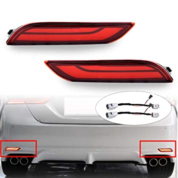 Amazon.com: PGONE - Luces reflectoras LED para parachoques ...