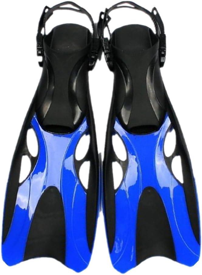 スキューバダイビングフィン スイミング、シュノーケリング、水泳に最適な超軽量スノーケリングフィン (色 : 青, サイズ : 42-47) 青 42-47