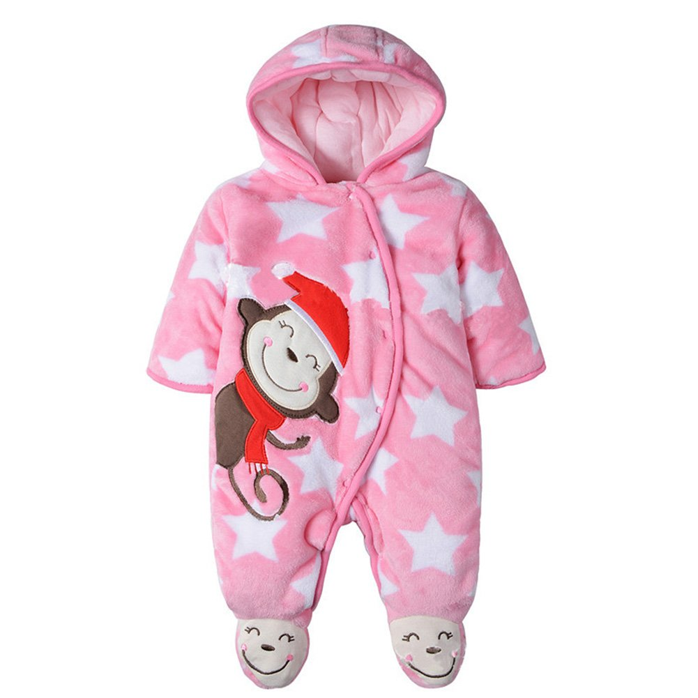 Yanzi6 Baby Toddler Cotton Long Sleeve Jumpsuit Front Button