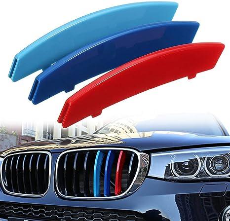 housesweet M Farbe Auto K/ühlergrill Streifen Abdeckung Aufkleber Clips f/ür BMW 5er E60 04-10