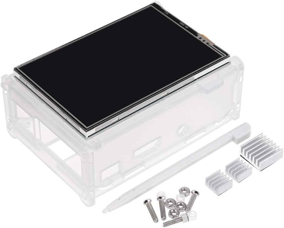 Heavensense 3.5 Inch TFT LCD Touch Screen Protective Case Touch Pen Kit for Raspberry Pi 3//2//3 Model B//3 Model B+ Heatsink