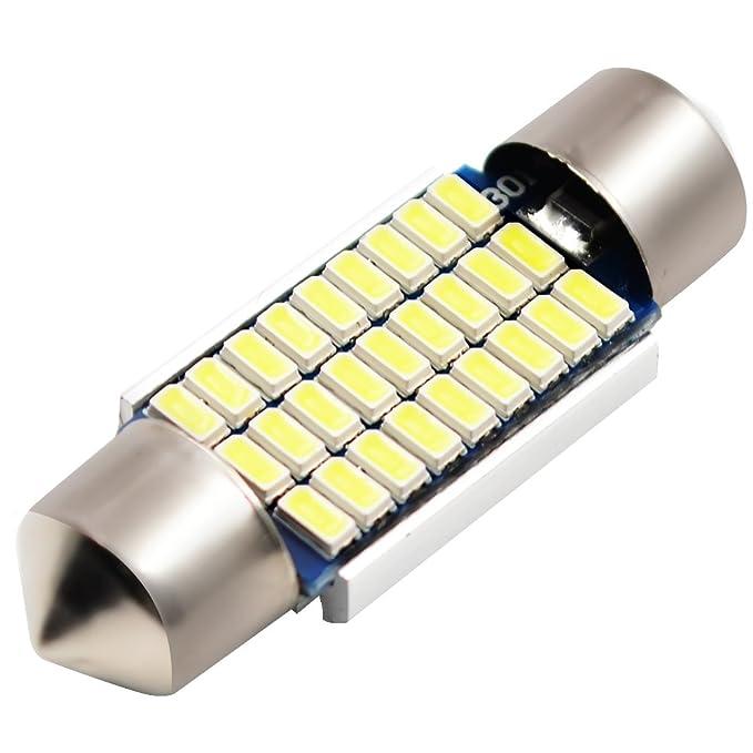 4PCS 39mm 1.54 8 LED White Festoon Map Reading Light Lamp Internal