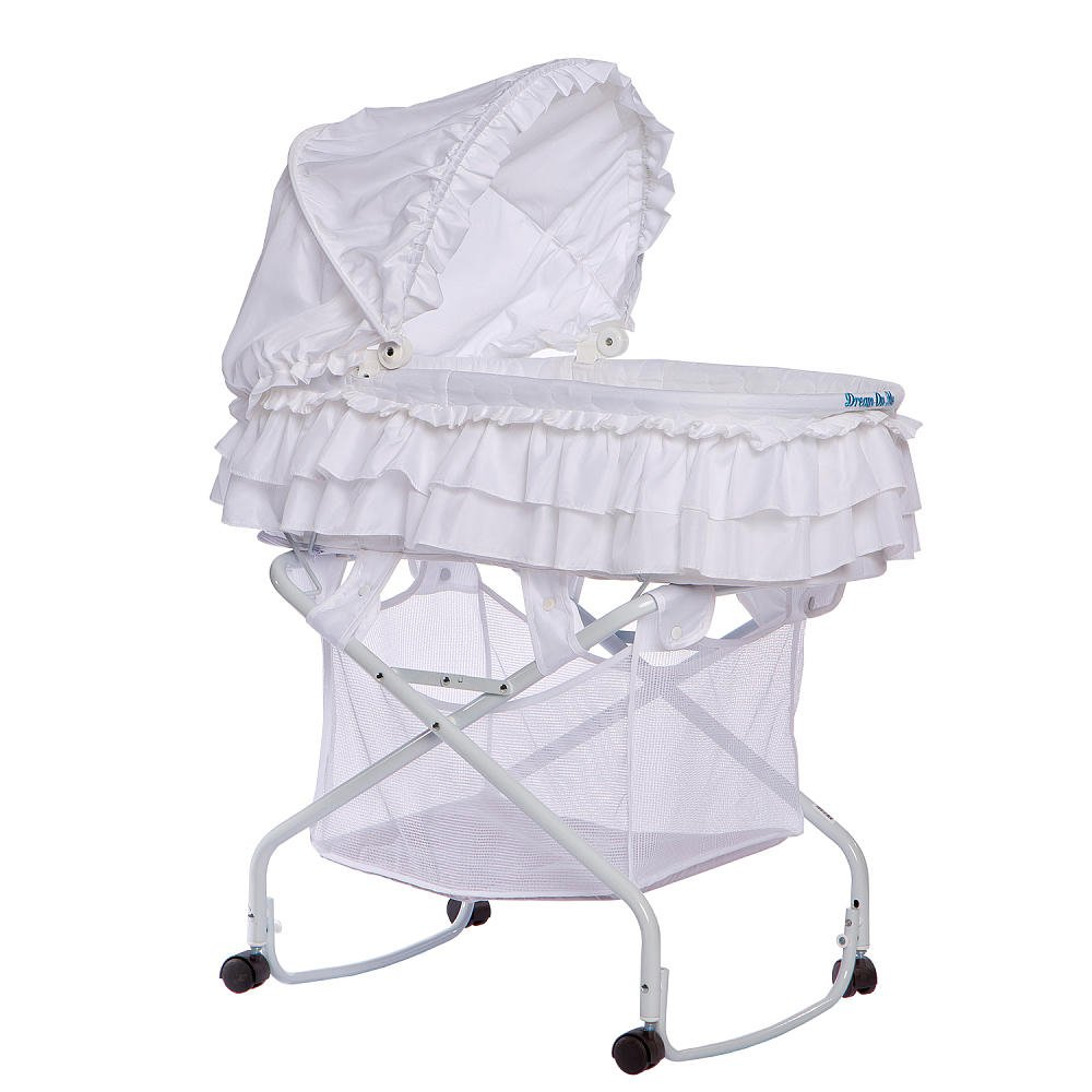 Dream On Me Layla 2 in 1 Bassinet To Cradle, White