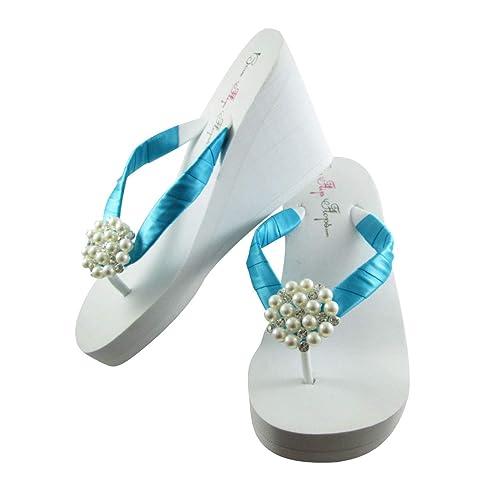 1, 2 or 3.5 inch Pearl Wedge Flip Flops