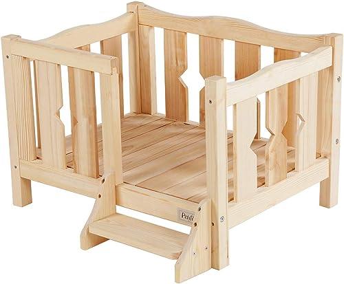 Petsfit Wooden Pet Bed,Dog Bed W O Mat