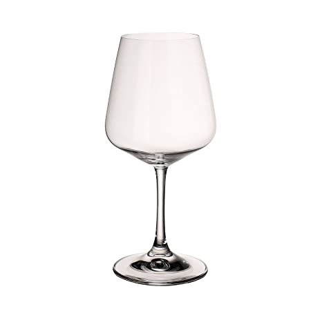 6e2f5ffc5b11 Villeroy & Boch Ovid Red Wine Glasses, Set of 4, 590 ml, Crystal Glass,  Clear: Amazon.co.uk: Kitchen & Home