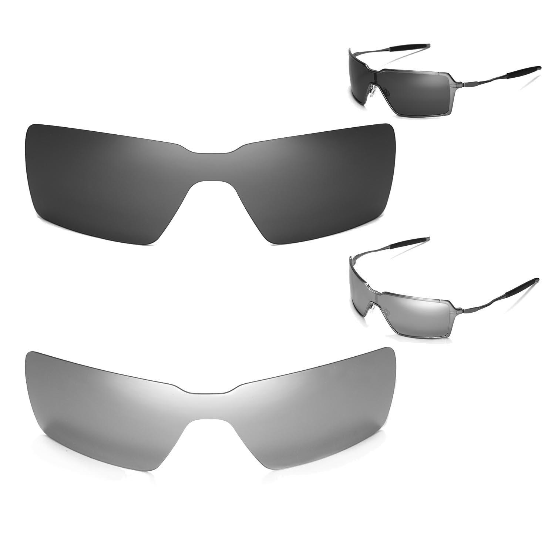 New Walleva Polarized Titanium + Black Lenses For Oakley Probation