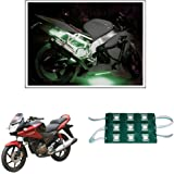 Vheelocityin 9 LED Custom Cuttable Bike/ Scooty Green Light for Interior/ Exterior For Honda Cbf Stunner