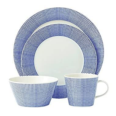 Royal Doulton Pacific 4 Piece Dots Place Setting, White