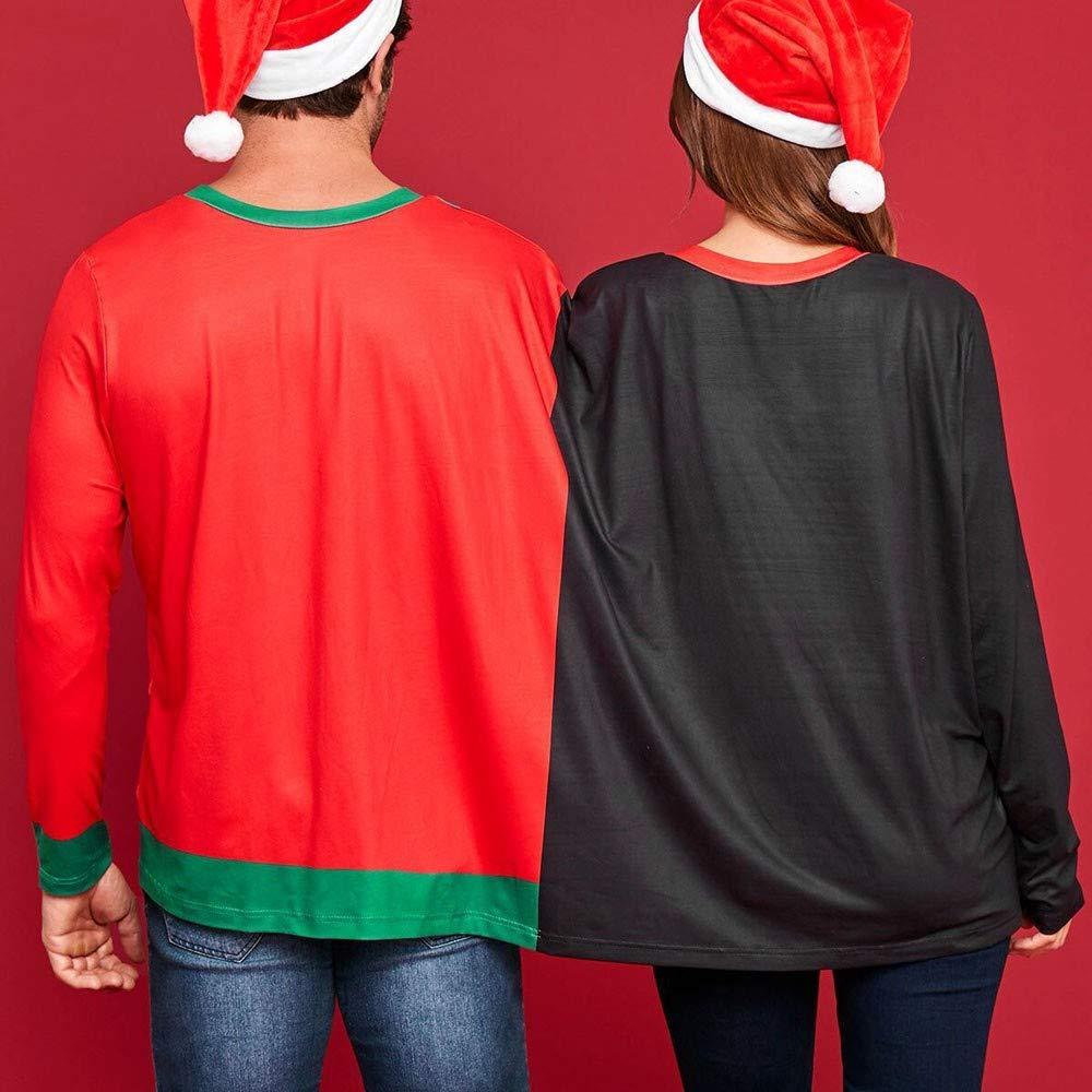 Malloom Zwei Personen Weihnachten Pullover Unisex Paare Sweatshirt Zwillingsspitzen Sankt Weihnachtsbluse Oberteile Tunika Hemd Jumper Tops