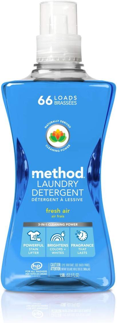 Method Laundry Detergent, Fresh air, 53.5 Fl Oz (Pack of 1)