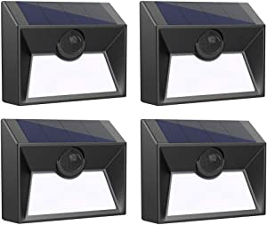 Westinghouse Intelligent Solar Lights Outdoor 20 SMD LEDs Solar Motion Sensor Lights 300 Lumens Waterproof Solar Fence Lights for Security Garden Patio Stairs Deck Gate Driveway Yard (4 Pack)