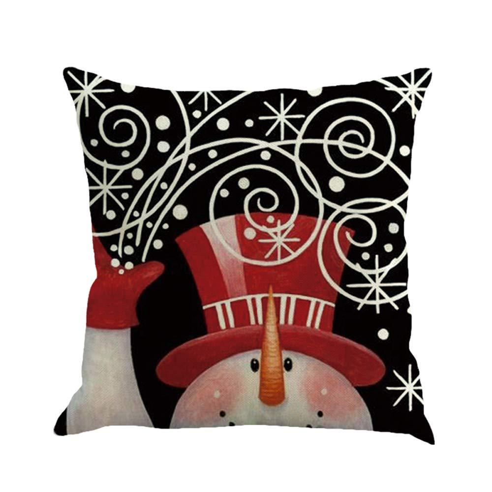 JiaMeng Funda Cojin Almohada, Navidad Que teñe la decoración ...